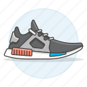 accessory, black, clothes, dark, footwear, gray, running, shoes, sneakers icon