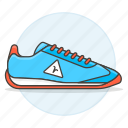 accessory, blue, clothes, footwear, light, red, shoes, sneakers icon
