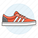accessory, adidas, clothes, footwear, red, shoes, sneakers icon