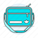 accessory, adidas, backpack, bag, body, clothes, cross, cyan, luggage, turquoise icon