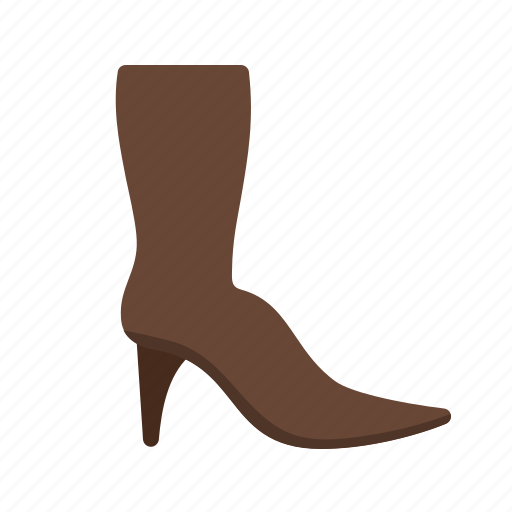 beauty, boot, boots, long, winter, zipper icon