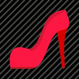 color, fashion, female, high, modern, pair, shoe icon