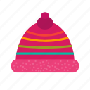 cap, christmas, decoration, hat, red, santa, season icon