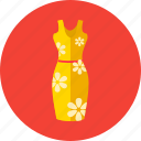 flowers, midi, molded dress, summer, women icon