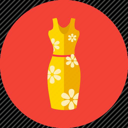 flowers, midi, molded dress, summer, women icon