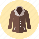 coat, over, clothes, jacket, women icon