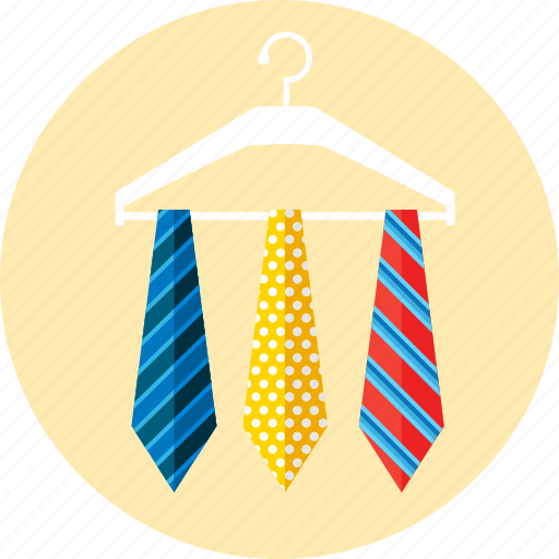 accessories, businessman, clothes, hanger, men, ties icon