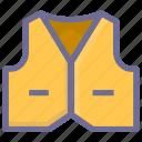 clothes, vest icon