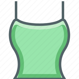 clothing, female, straps, top, wear, with, woman icon