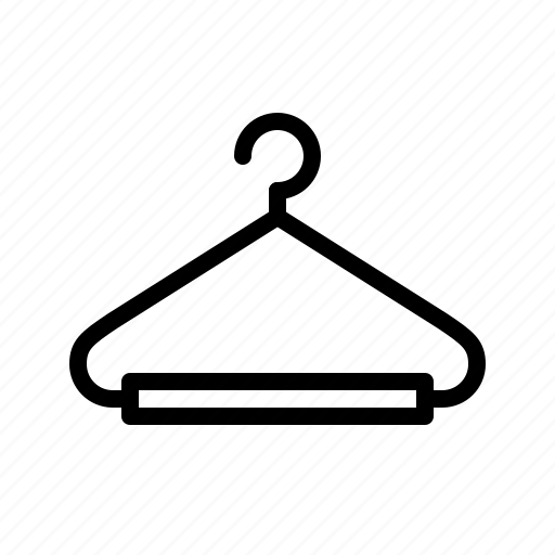 clothes hanger, clothing, hanger icon