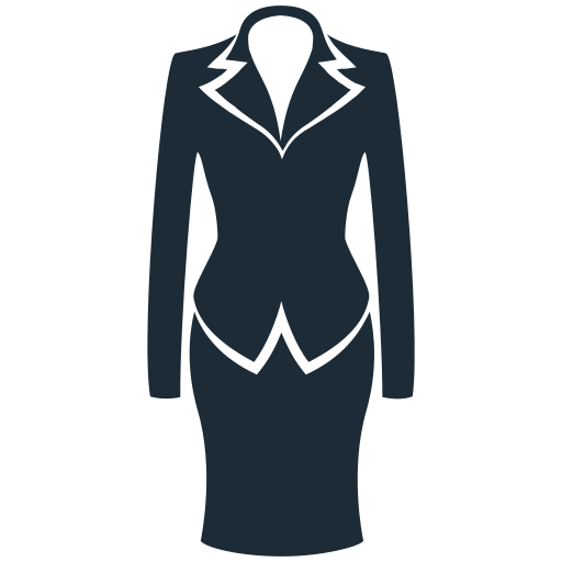 business, clothes, clothing, fabric, suit, woman icon