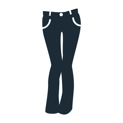 clothes, clothing, geans, lady, pants, trousers, woman icon