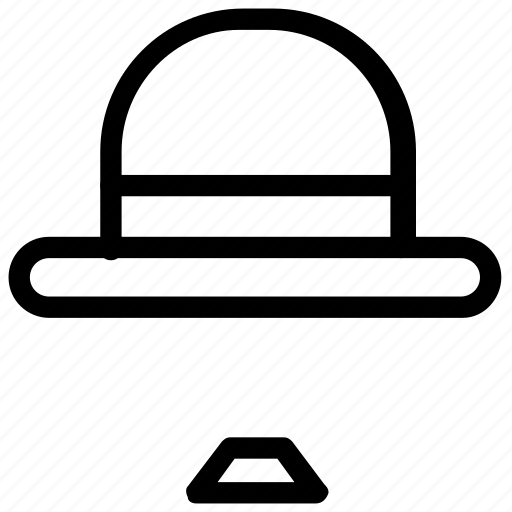 accessories, bowler, hat icon