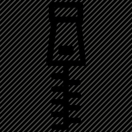 Clothing, zipper icon
