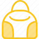bag, clothes, clothing, dress, fashion, hand icon