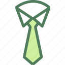 clothes, clothing, dress, fashion, long, tie icon