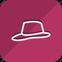 cap, clothes, dress, fashion, hat, man, woman icon