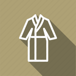 bag, bathrobe, clothes, clothing, fashion, man, woman icon