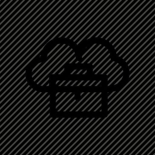 cloud, cloud bag, network, server icon