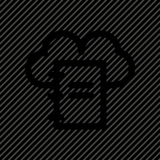 cloud, cloud book, cloud file, network, server icon