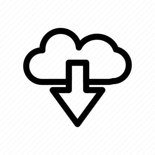 cloud, cloud dowload, network, server icon