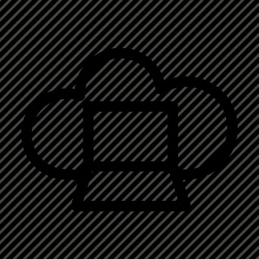 cloud, network, server icon