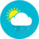 cloud, rain, rainy, sun, sunny, weather, weatherproof icon