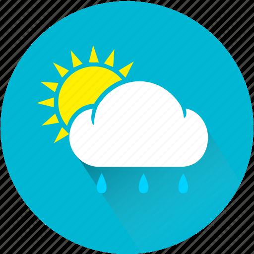 cloud, rain, rainy, sun, sunny, weather, weatherproof icon