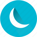 clear, cloud, cressent, moon, night, weather, weatherproof icon