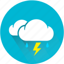 cloud, drop, lightning, rain, storm, thunder, thunderbolt icon