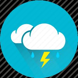 cloud, drop, lightning, rain, storm, thunder, thunderbolt icon