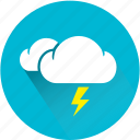 cloud, clouds, lightning, rain, storm, thunder, thunderbolt icon