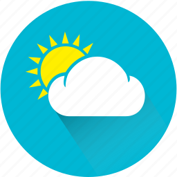 bright, clear, cloud, day, light, sun, sunny icon