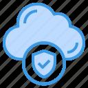 cloud, shield, computing, storage, data