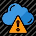 cloud, computing, warning, data, storage