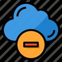 cloud, remove, delete, computing, data