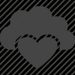 cloud, heart, love, sky icon