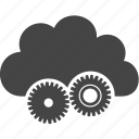 cloud, gear, mechanism, sky icon