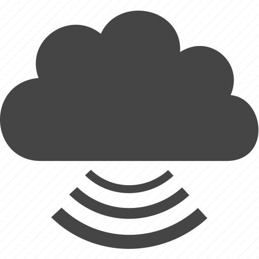 cloud, signal, sky, sound icon