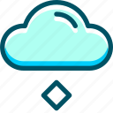 cloud, hail, weather icon