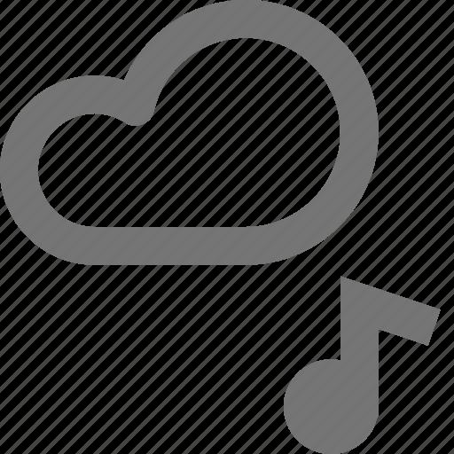 audio, backup, cloud, database, icloud, music, note, storage icon