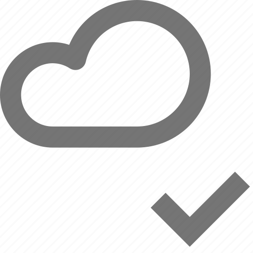 approve, backup, check, cloud, database, icloud, select, storage icon