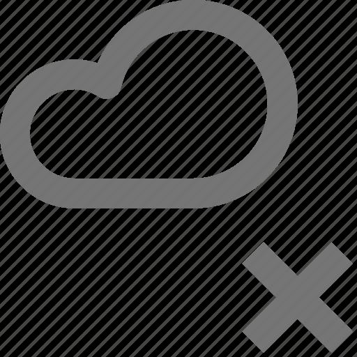 backup, close, cloud, database, delete, icloud, remove, storage icon