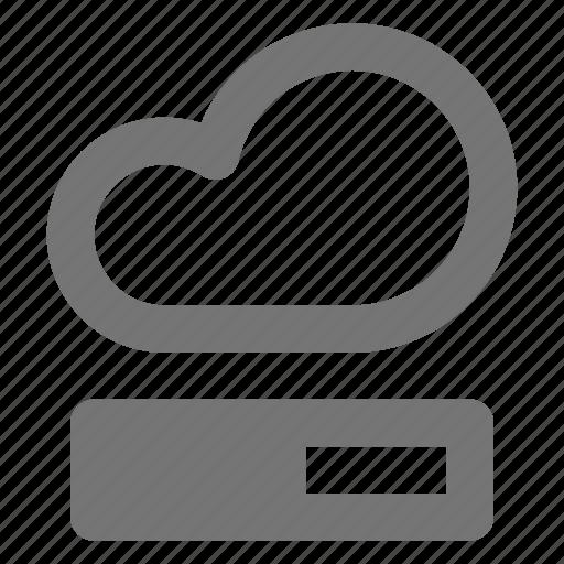 backup, cloud, database, downloading, icloud, progress, storage icon