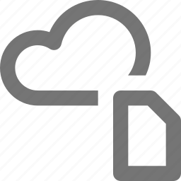 cloud, file icon