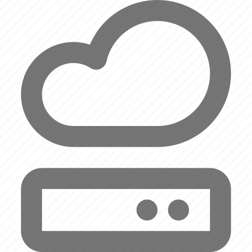 backup, cloud, database, harddisk, icloud, memory, storage icon