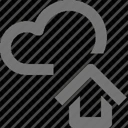backup, cloud, database, home, house, icloud, storage icon