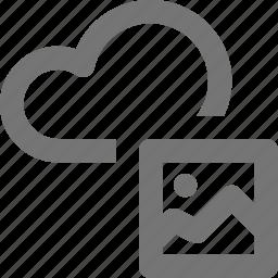cloud, image, photo icon