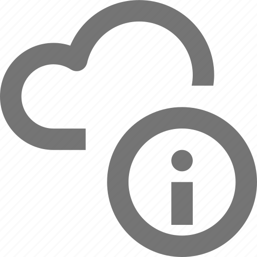 backup, cloud, database, icloud, info, information, storage, support icon