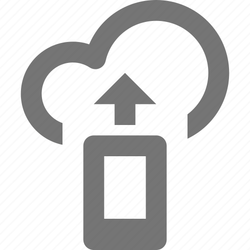 arrow, cloud, mobile, up, upload icon